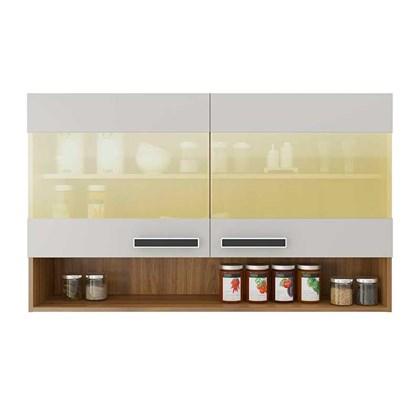 Armário Aéreo de Cozinha 2 Portas com Vidro IPV2-120 New Jazz Itatiaia Off White