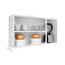 Armário Aéreo de Cozinha 3 Portas com Vidro IPV3-120 Luce Itatiaia Branco Neve