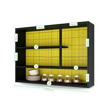 Armário Aéreo de Cozinha 3 Portas IP3-105 Pop Art I2 Itatiaia Grafite/Amarelo/Off White