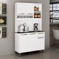 Armário de Cozinha 5 Portas 1 Gaveta Ametista Valdemóveis Branco