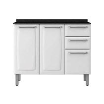 Balcão de Cozinha 3 Portas  2 Gavetas IG3G2-105 Luce Itatiaia Branco Neve