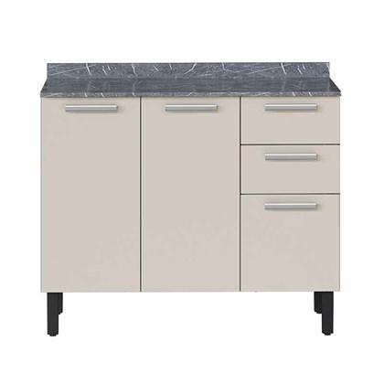Balcão de Cozinha 3 Portas  2 Gavetas IG3G2-105 Pop Art I2 Itatiaia Grafite/Off White