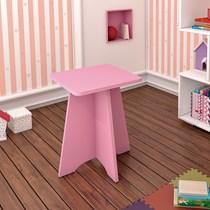Banqueta Infantil Twister Tcil Móveis Quatzo Rosa