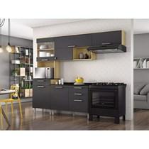 Cozinha Compacta 4 Peças Clean Itatiaia Nogueira/Grafite