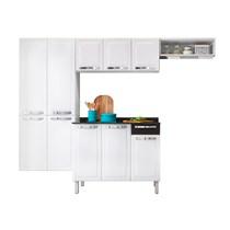 Cozinha Compacta 4 Peças com Paneleiro e Balcão Rose Itatiaia  Branco/Preto