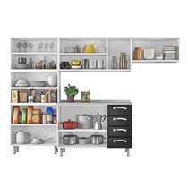 Cozinha Compacta 4 Peças com Paneleiro IPLDV-80 e Balcão Premium Itatiaia Branco/Preto