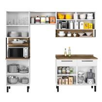 Cozinha Compacta 4 peças com Porta Horizontal Bali Itatiaia Branco Matte