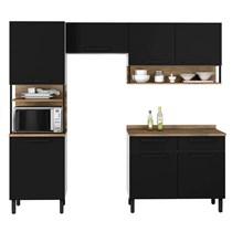 Cozinha Compacta 4 peças com Porta Horizontal Bali Itatiaia Preto Matte