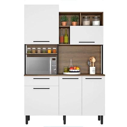 Cozinha Compacta 5 Portas 1 Gaveta Bali Itatiaia Branco Matte