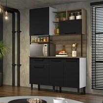 Cozinha Compacta 5 Portas 1 Gaveta Bali Itatiaia Preto Matte