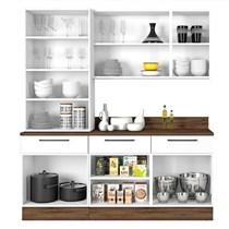 Cozinha Modulada 4 Peças 5 Vidros Exclusive Itatiaia Branco Matte