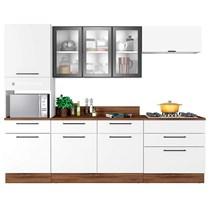 Cozinha Modulada 5 Peças 3 Vidros Exclusive Itatiaia Branco Matte