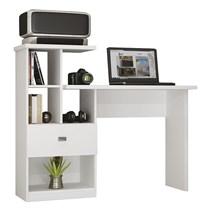 Escrivaninha 1 Gaveta e Nichos Connect Benetil Móveis Branco