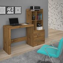 Escrivaninha com Estante 2 Gavetas Alana JCM Móveis Nobre Soft