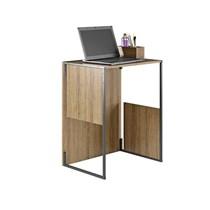 Escrivaninha Mesa de Centro 2 em 1 Industrial I1 Itatiaia Castanho