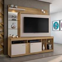 Estante Home para TV até 56 Polegadas Brasil JCM Móveis Imbuia/Off White