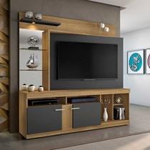 Estante Home para TV até 56 Polegadas Brasil JCM Móveis Rovere/Off White