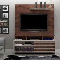 Estante Home para TV até 60 Polegadas Star Valdemóveis Castanho/Off White