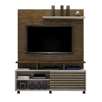 Estante Home para TV até 60 Polegadas Star Valdemóveis Ipê/Off White