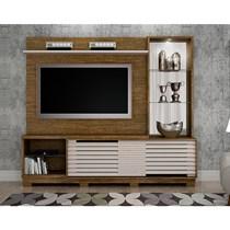 Estante Home para TV até 65 Polegadas Ravena Valdemóveis Ipê/Off White