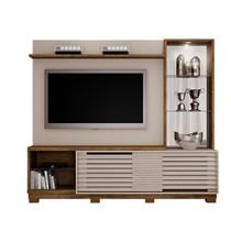 Estante Home para TV até 65 Polegadas Ravena Valdemóveis Off White/Ipê