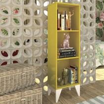 Estante Livreiro Twister Tcil Móveis Amarelo/Branco