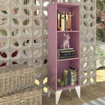 Estante Livreiro Twister Tcil Móveis Quartzo Rosa/Branco