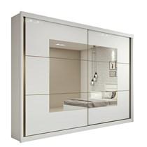 Guarda Roupa Casal com Espelho 2 Portas 6 Gavetas Toronto Plus Lopas Banco