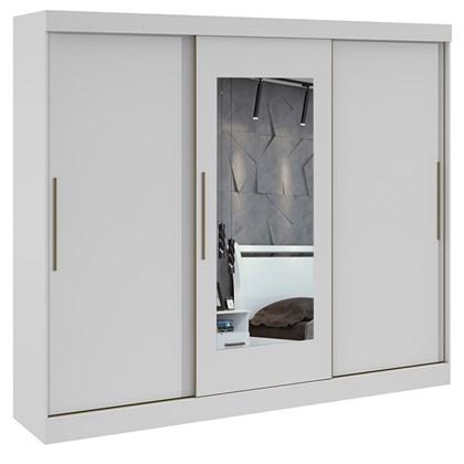 Guarda Roupa Casal com Espelho 3 Portas 4 Gavetas Montebello Lopas Branco