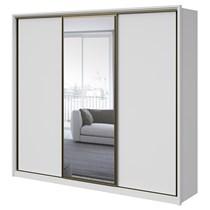 Guarda Roupa Casal com Espelho 3 Portas 6 Gavetas Spazio Lopas Branco