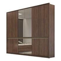 Guarda Roupa Casal com Espelho 6 Portas 6 Gavetas Urban Lopas Imbuia Naturale