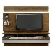 Home Suspenso para TV até 65 Polegadas Napoles Valdemóveis Ipê/Off White