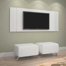 Painel para TV até 43 Polegadas Jaspe JCM Móveis Branco