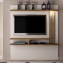 Painel para TV até 55 Polegadas Tóquio Valdemóveis Off White/Ipê