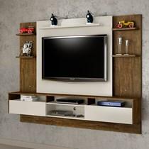 Painel para TV até 60 Polegadas Status Valdemóveis Ipê/Off White