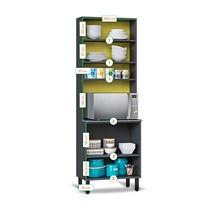 Paneleiro Torre Quente 4 portas 70 1FNO  Pop Art I2 Itatiaia Grafite/Off White