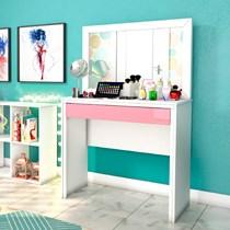 Penteadeira Twister Tcil Móveis Neve/Quartzo Rosa
