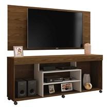 Rack Free Com Painel Wood Para TV Até 55 Polegadas Mavaular Canion Soft/Off White