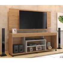 Rack Free Com Painel Wood Para TV Até 55 Polegadas Mavaular Damasco Soft/Off White