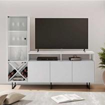 Rack para TV até 56 Polegadas Luz JCM Móveis Branco