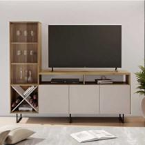 Rack para TV até 56 Polegadas Luz JCM Móveis Noronha/Off White