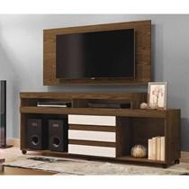 Rack Triunfo Com Painel Wood Para TV Até 55 Polegadas Mavaular Canion Soft/Off White