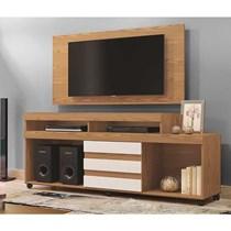 Rack Triunfo Com Painel Wood Para TV Até 55 Polegadas Mavaular Damasco Soft/Off White